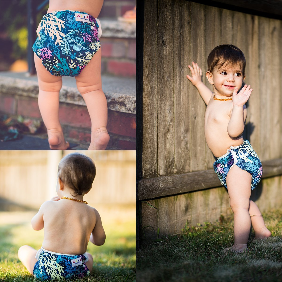 6DM18 12 Inserts ALVABABY Reuseable Washable Pocket 6 Cloth Diapers Girl Color