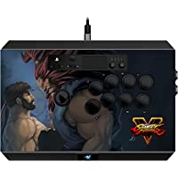 Razer Panthera Street Fighter V: Fully Mod-Capable - Sanwa Joystick and Buttons - Internal Storage Compartment - Tournament Arcade Stick for PS4 and PC