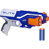 NERF Elite- Disruptor Blaster- Rotating Drum inc 6 official Darts- Kids Toys and Outdoor games- Ages 8+