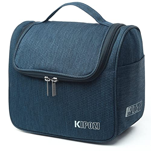KIPOZI Travel Hanging Toiletry Bag Make Up Wash Bags organiser Shaving dopp kit Bag with Extra Hook for men and women ladies