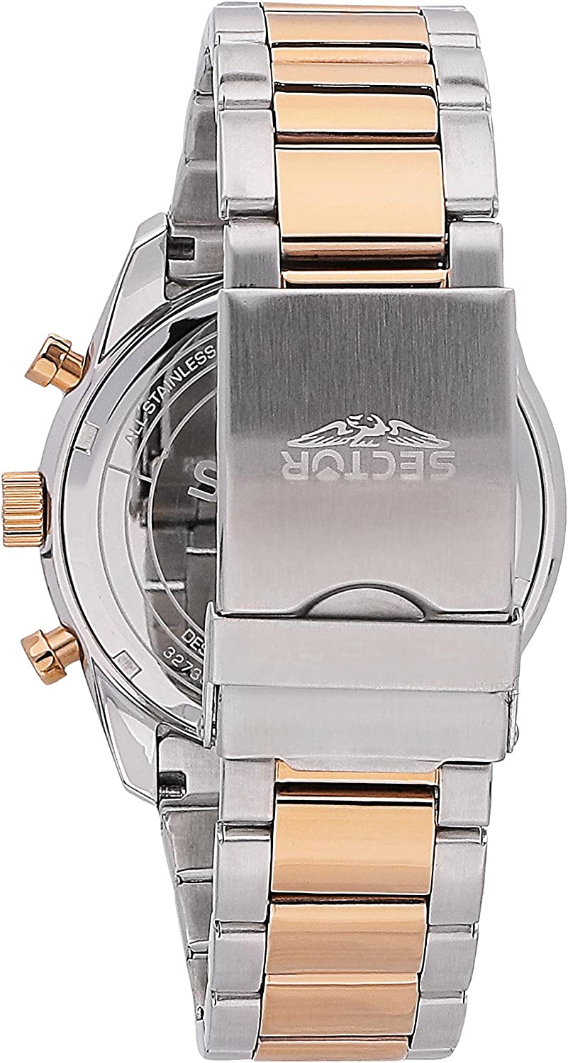 Sector No Limits Men s 695 Automatic-self-Wind Sport Watch with Stainless-Steel Strap, Rose Gold, 18 Model R3273613001