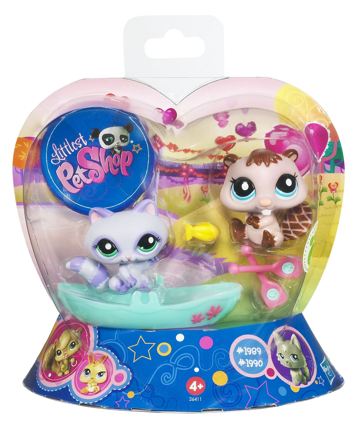 Littlest Pet Shop 2 Pack with Accessories  1989 &  1990