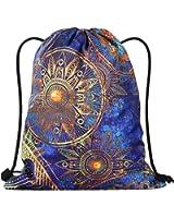 LIZIMANDU Print Drawstring Backpack Rucksack Shoulder Bags Gym Bag