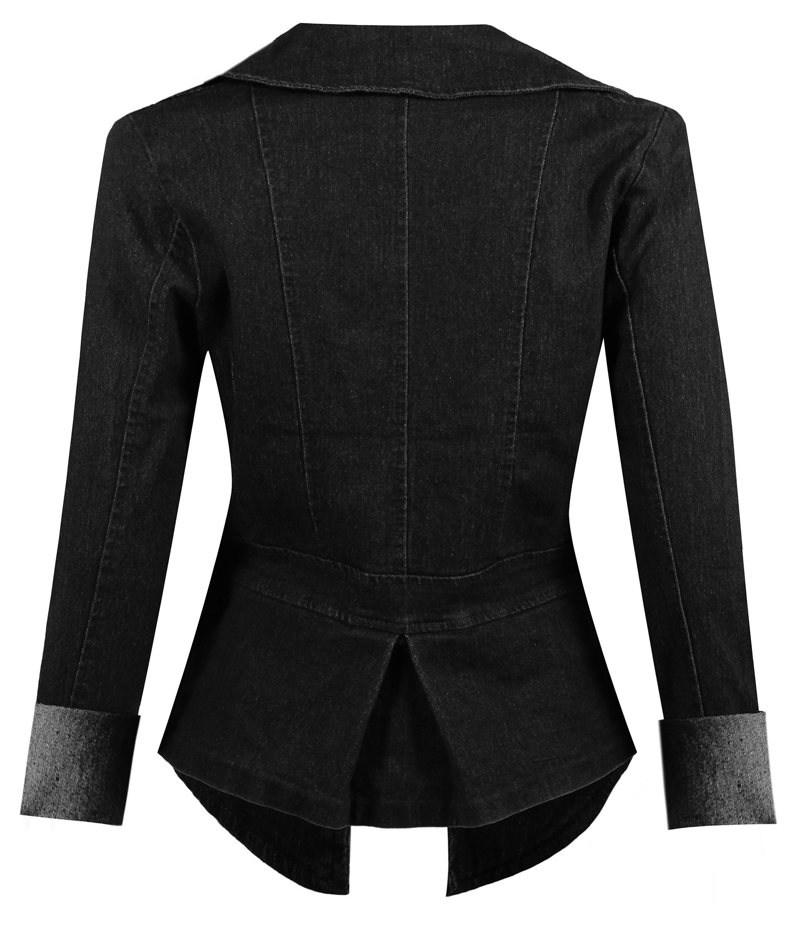 HOT FROM HOLLYWOOD Women's Button Down Long Sleeve Classic Outerwear Denim Jacket by HOT FROM HOLLYWOOD (Image #2)