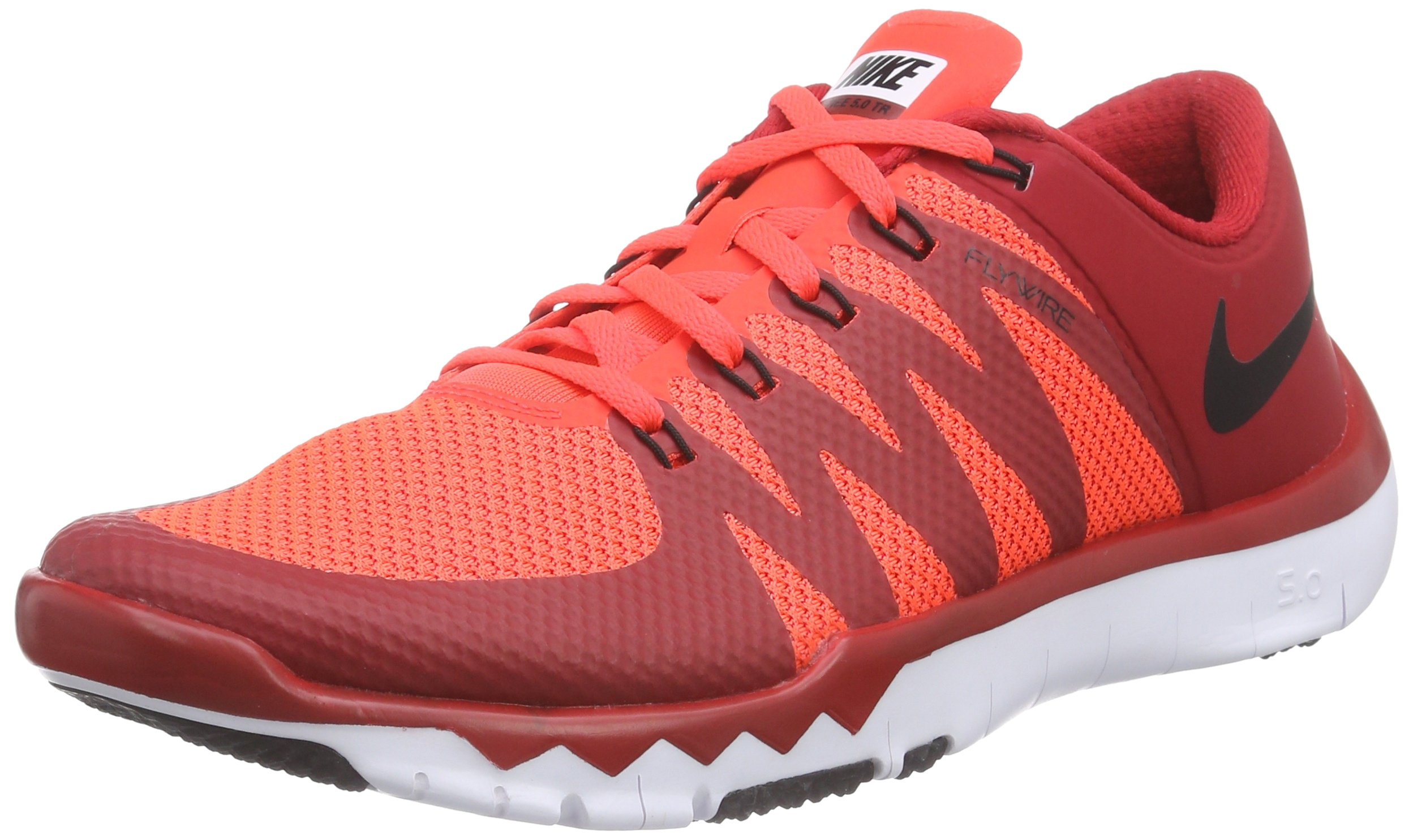 first rate c1bf3 f1620 Galleon - Nike Men s Free Trainer 5.0 V6 Gym Red Blk Brght Crmsn White Running  Shoe 8.5 Men US