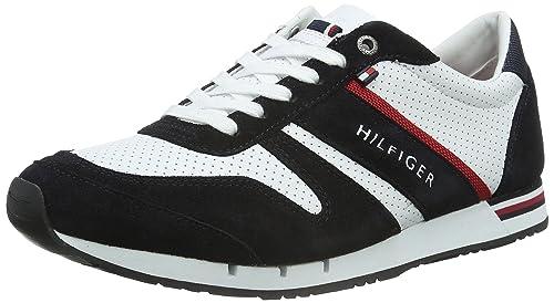 Tommy Hilfiger M2285Axwell 5C, Zapatillas para Hombre, Blanco (Rwb910), 40 2/3 EU: Amazon.es: Zapatos y complementos