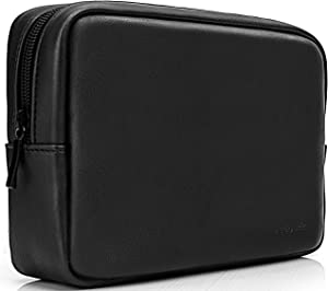 ProCase Accessories Bag Organizer Power Bank Case, Electronics Accessory Travel Gear Organize Case, Cable Management Hard Drive Bag -Black