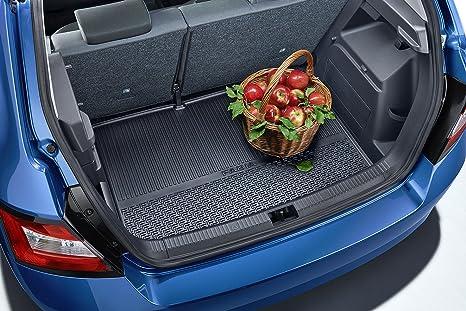 Geriffelte Kofferraumwanne für Skoda Fabia Monte Carlo 3 NJ Schrägheck Hatchback