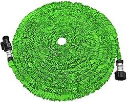 Garden Hose, 75' Expanding Hose, MONOLED Expandable Garden Hose, Bungee Style Expanding Hose Triple Layer Latex Core...