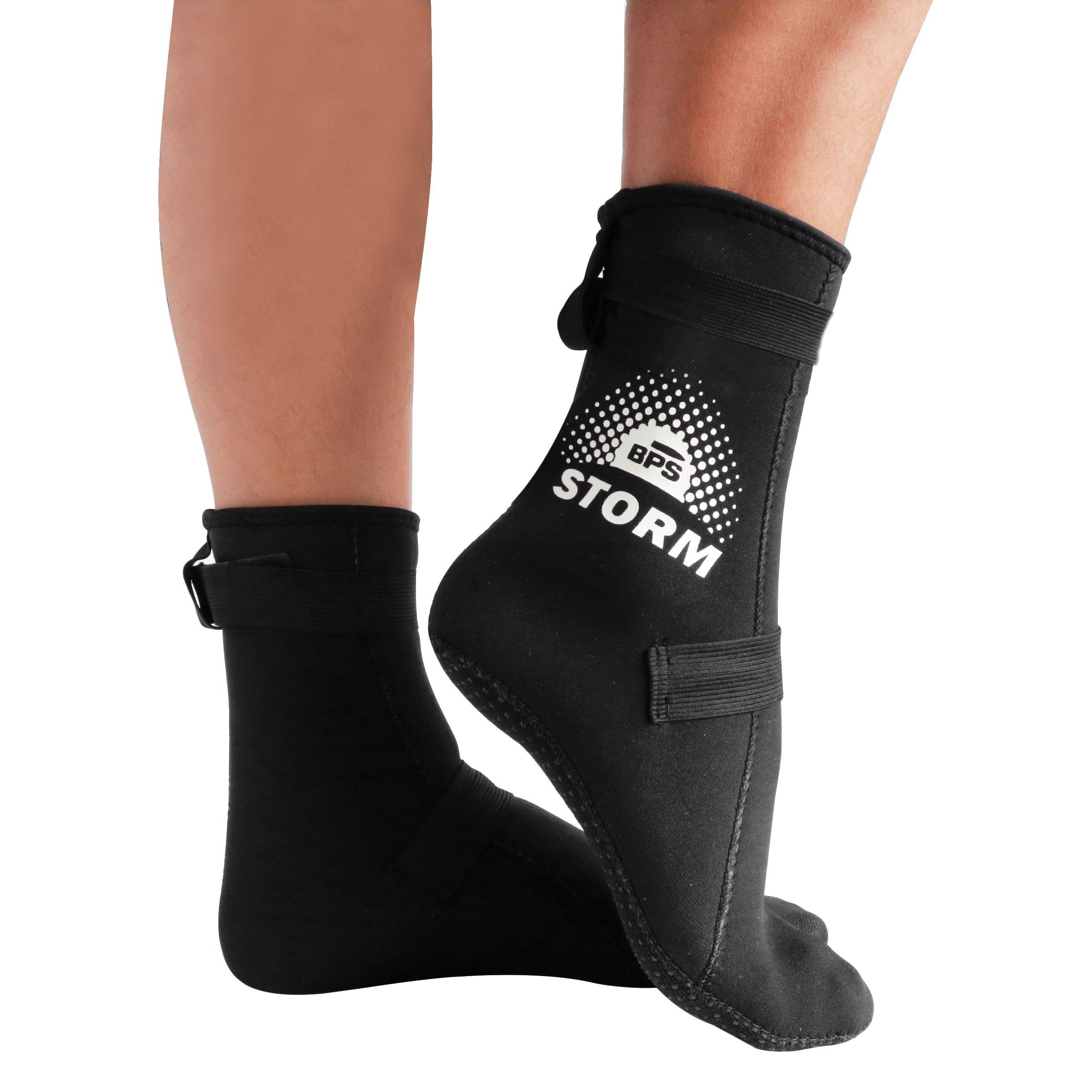 BPS Neoprene Socks - Black/White - XXXL