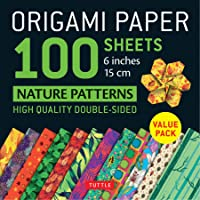 """Origami Paper 100 sheets Nature Patterns 6"""" (15 cm): Tuttle Origami Paper: High-Quality Origami Sheets Printed with 12 Different Designs: Instructions for 8 Projects Included"""