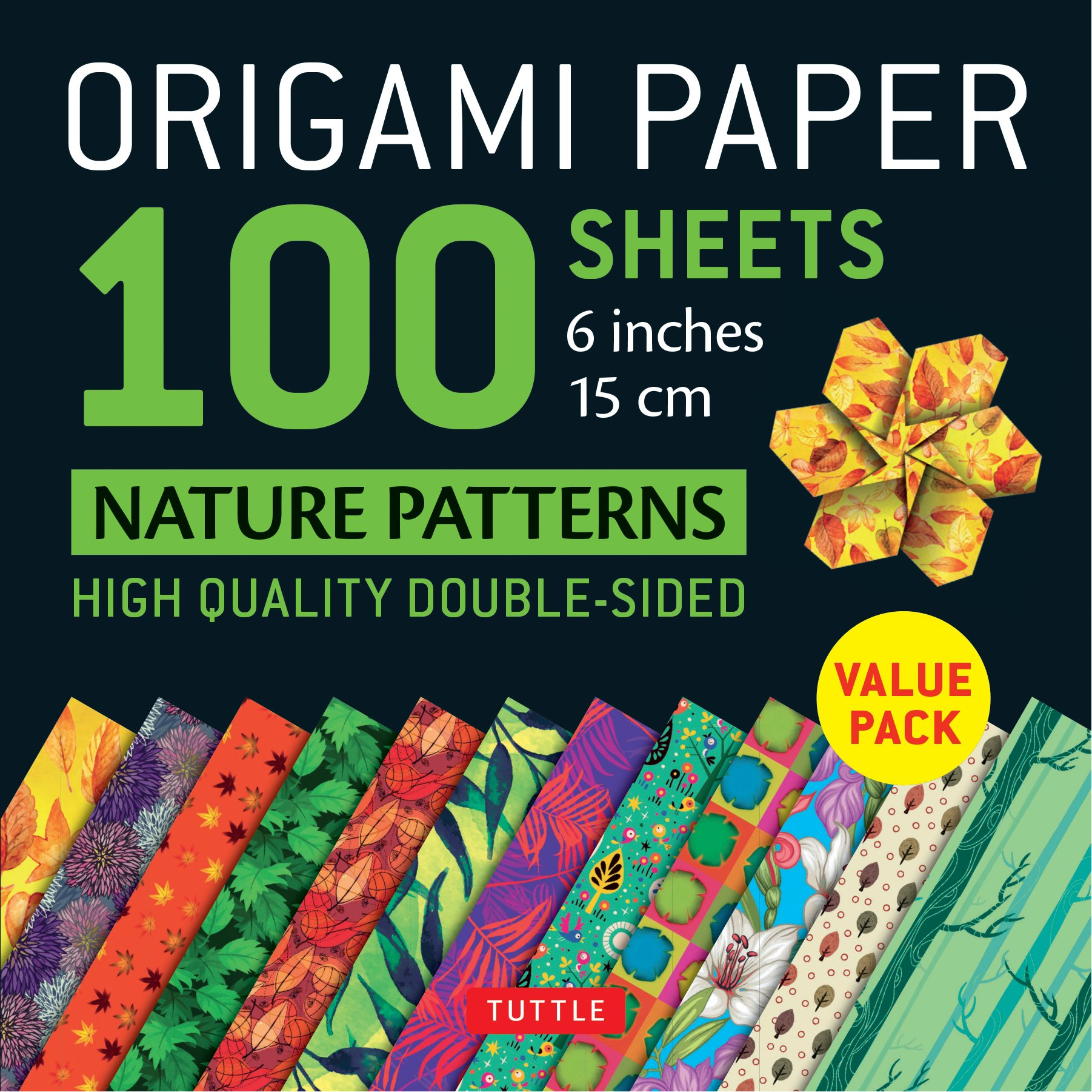 Origami Paper 100 Sheets Nature Patterns 6 Inch 15 Cm Origami Paper