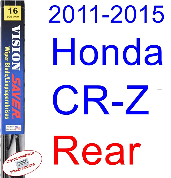 Amazon.com: 2011-2015 Honda CR-Z Wiper Blade (Rear) (Saver Automotive Products-Vision Saver) (2012,2013,2014): Automotive