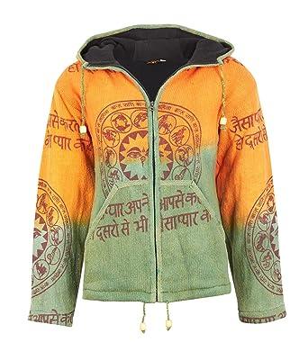 67899595d96c Kapuzen-Strickjacke für Damen in Orange   Grün  Amazon.de  Bekleidung