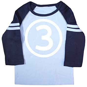 Happy Family Clothing Little Boys Third Birthday Raglan T Shirt