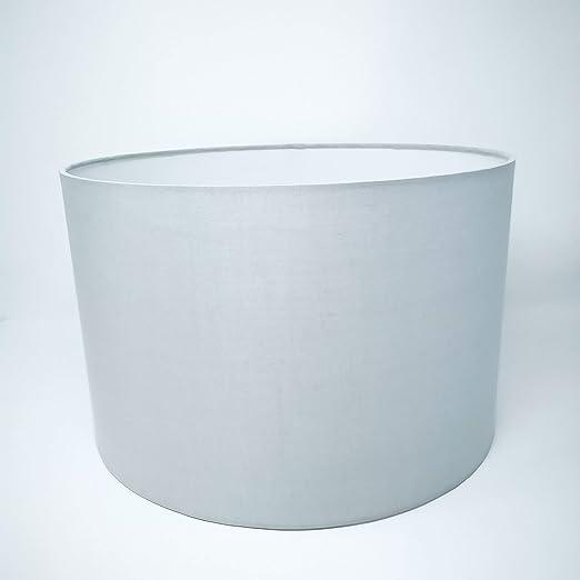 Pantalla de repuesto para lámpara de pie, de tela, 35 cm de diámetro, para bombillas E27, color gris claro: Amazon.es: Iluminación