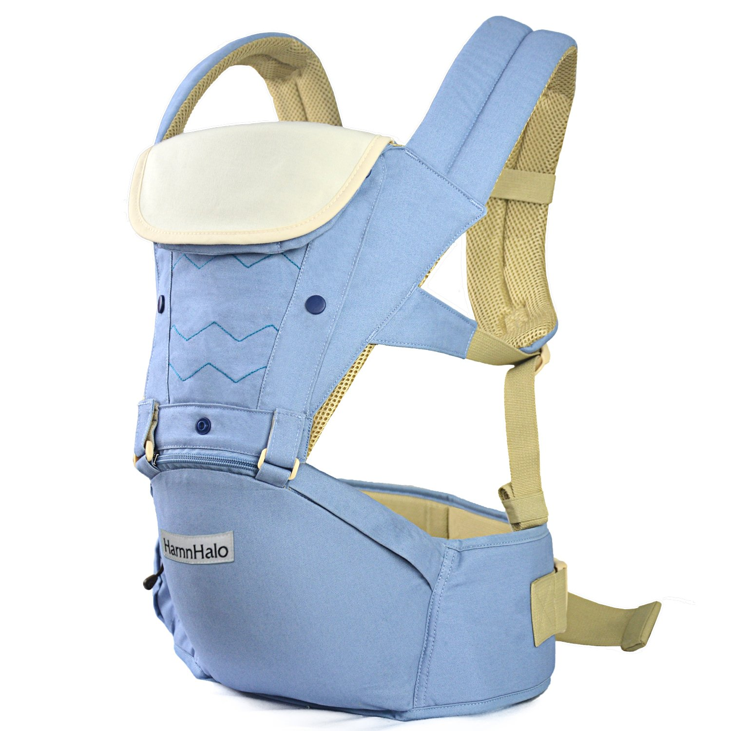 HarnnHalo Adjustable 4 in 1 Baby Carrier with Hip Seat M10 Blue