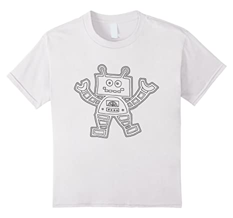 Robot T-Shirt for coloring in
