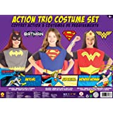 Rubies Costume Co DC Comics Girls Trio Action Set Dress Up Trunk