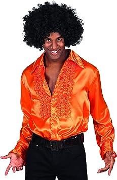 Desconocido Camisa naranja estilo disco para adulto: Amazon.es: Juguetes y juegos