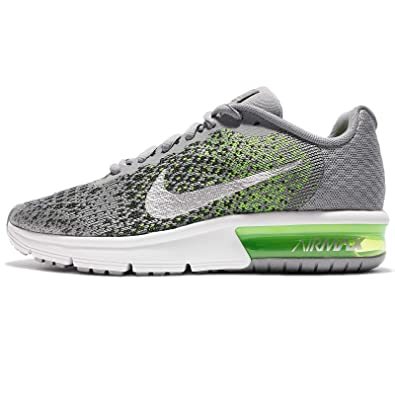 f399f8c148 Nike Boys' Air Max Sequent 2 Running Shoe (GS), Stealth/Metallic  Silver/Electric Green, 4. 5 M US Big Kid: Buy Online at Low Prices in India  - Amazon.in