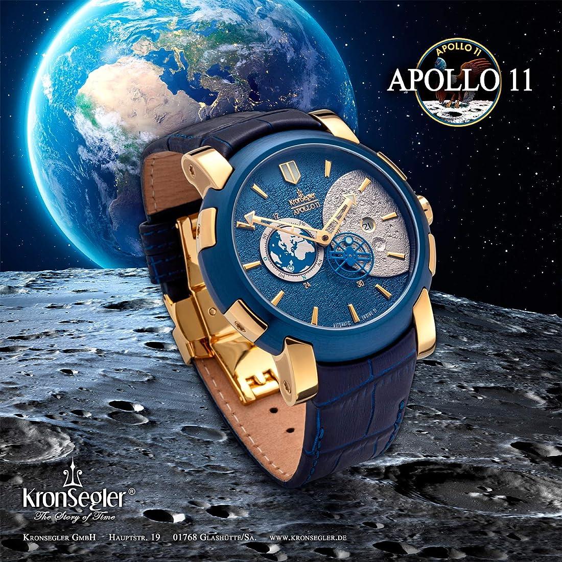 Orologio kronsegler apollo 11 automatico oro-blu limitato 7383