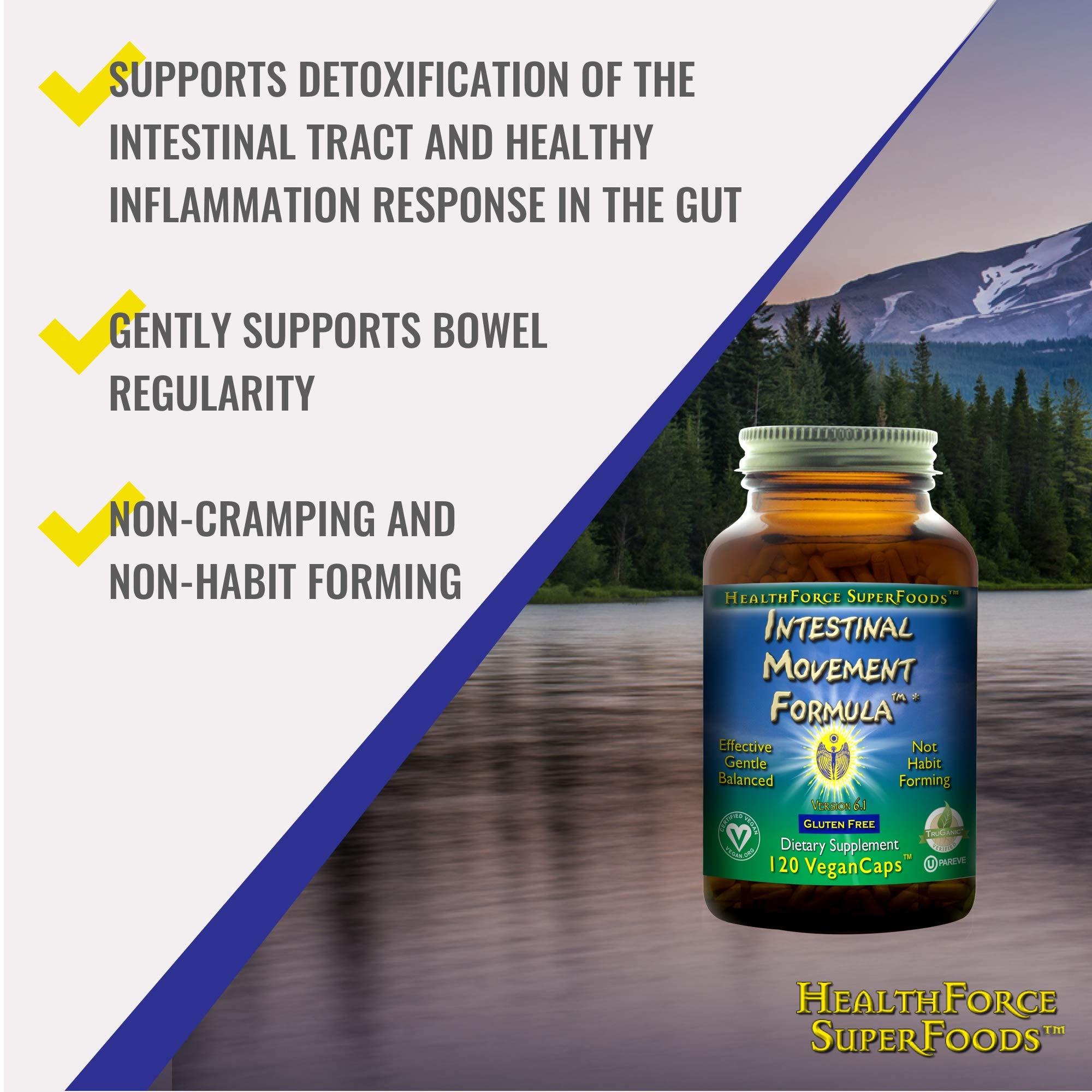 HealthForce SuperFoods Intestinal Movement Formula, Herbal Laxative, All-Natural, Organic, Non-GMO, Gluten-Free, Kosher, Vegan, 120 Count by HEALTHFORCE SUPERFOODS (Image #3)