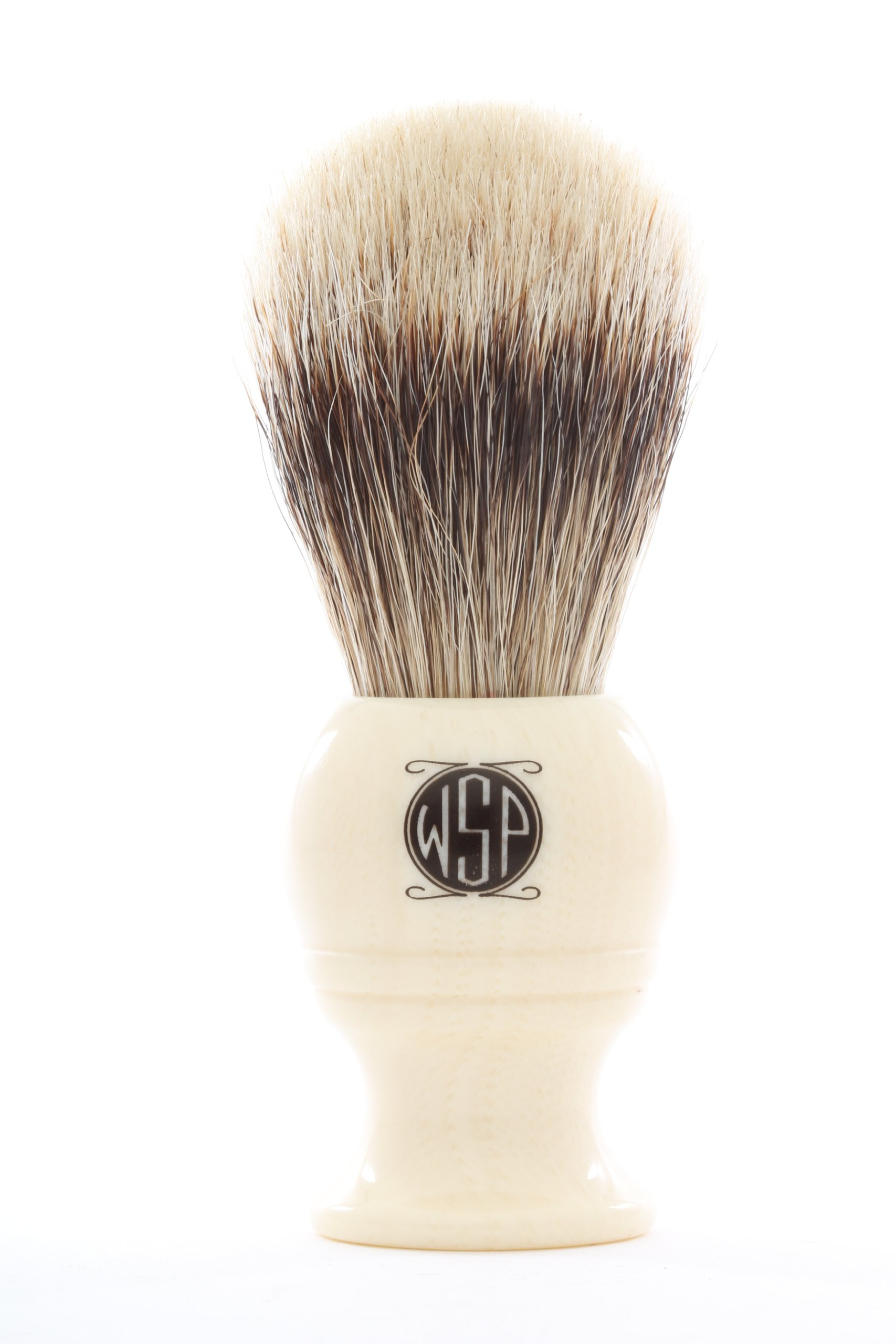 Badger Shaving Brush High Density High Mountain White Silvertip WSP ''Monarch'' (Ivory) by Wet Shaving Products