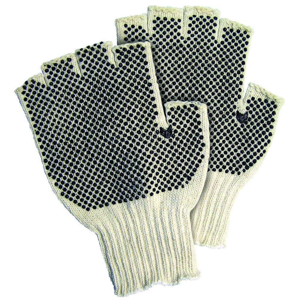 Aviditi GLV1023S Fingerless PVC Dot Knit Gloves, Small (Case of 24) by Aviditi