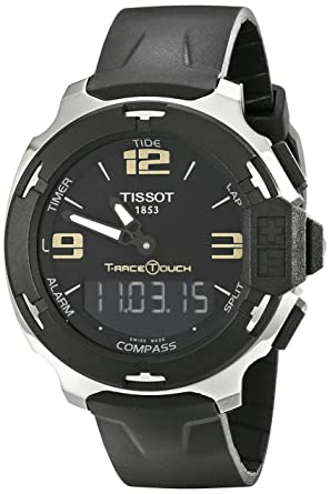 4a12edc49f7 Image Unavailable. Image not available for. Color: Tissot Men's  TIST0814201705700 T-Race Touch Analog-Digital Black Watch