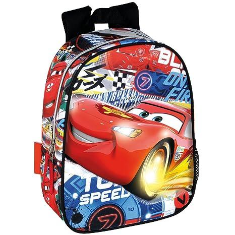 51cdb9972e0bef Zaino Asilo Scuola Disney Cars Saetta McQueen 32x25x9.5 Cm: Amazon ...