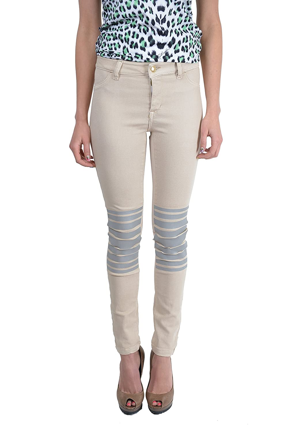 Just Cavalli Women's 'Just Chic' Beige Jeggings Stretch Pants US 26 IT 40