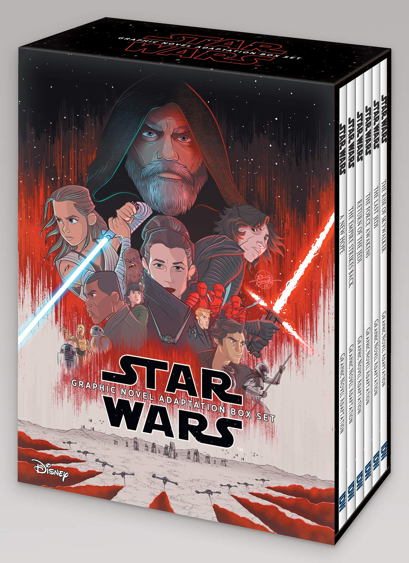 Amazon Opens Pre-Orders For Star Wars Episodes IV–IX Graphic Novel Adaptation Box Set