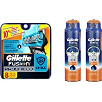 Gillette Fusion Proshield Chill (8 Refills + 2 Shave Gels)