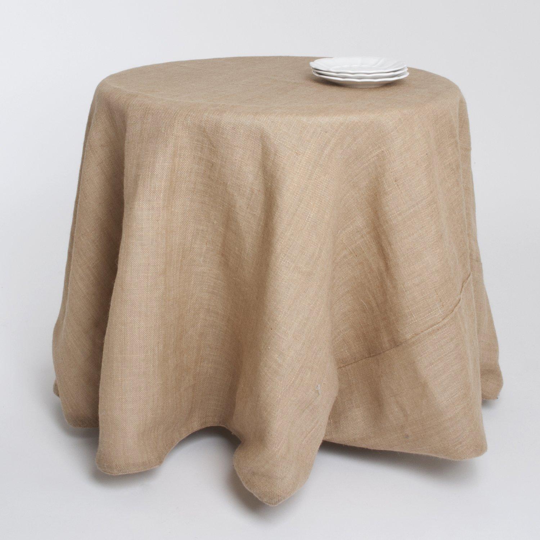 Amazon.com: Passe Partout Burlap Lined Linen Tablecloth. 100% Linen. 90  Inch Round.: Home U0026 Kitchen