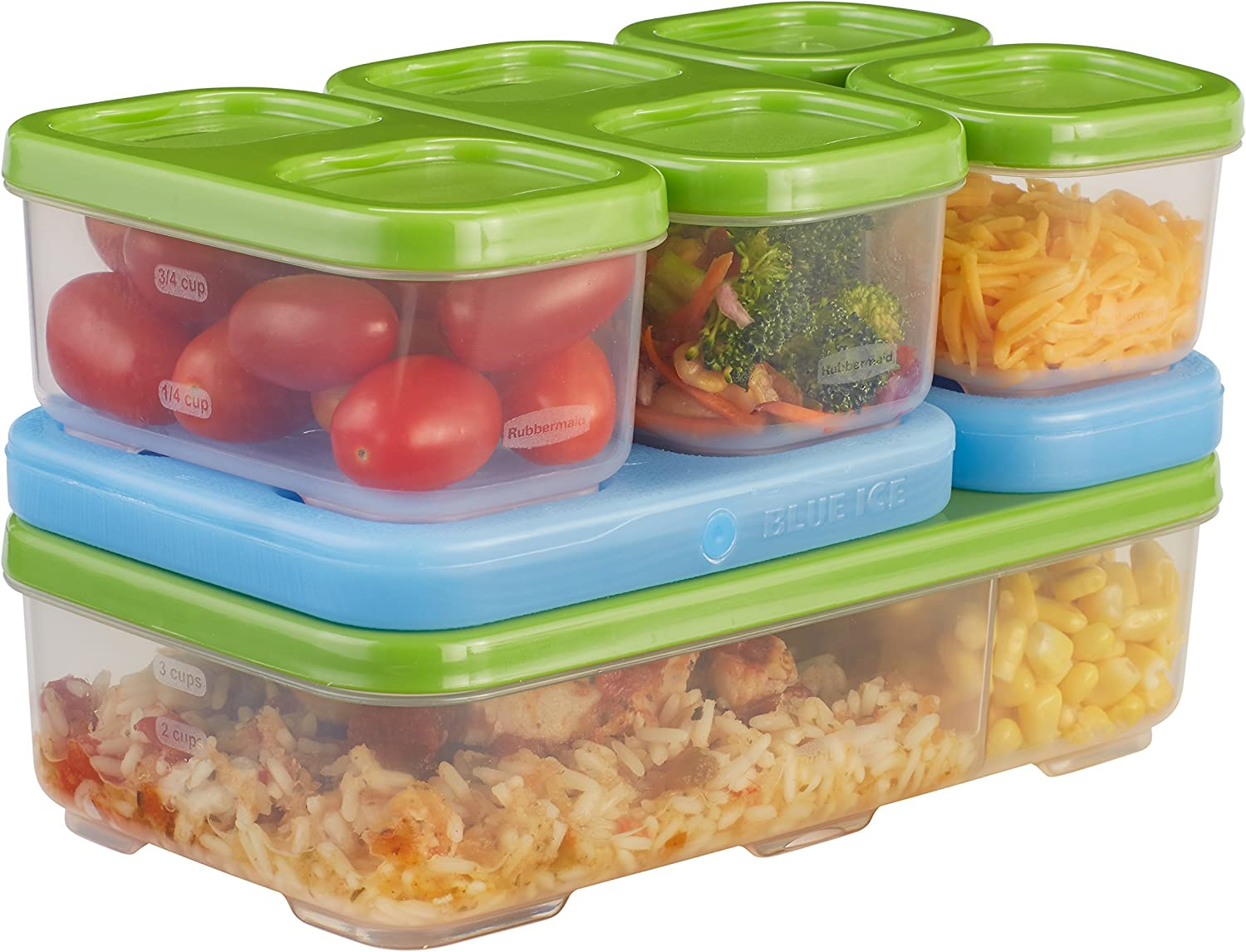 Rubbermaid Lunch Blox Food Snack Home Kitchen Salad Kit 1806179
