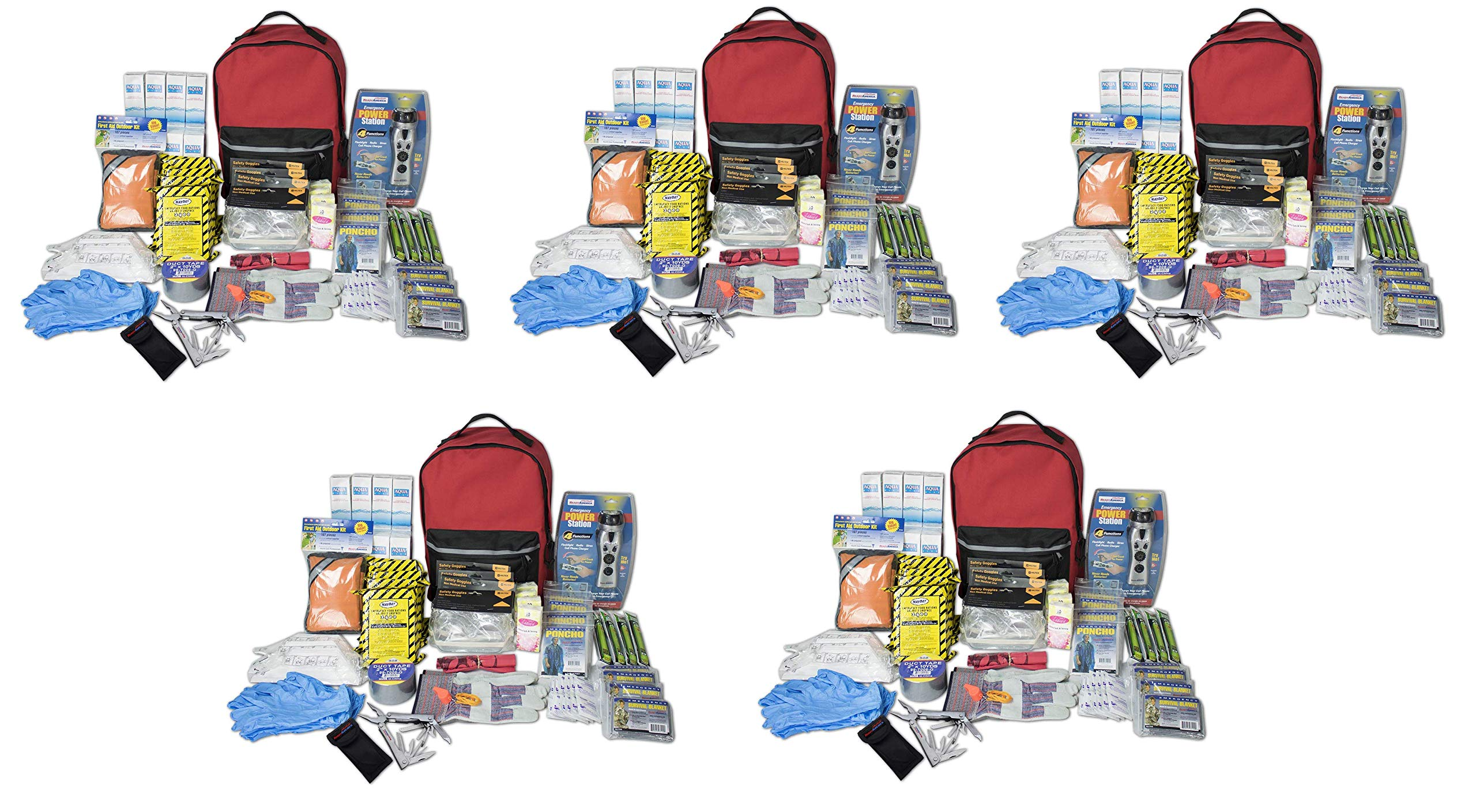 Ready America 70385 Deluxe Emergency Kit 4 Person Backpack (Fivе Расk)