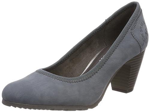 s.Oliver 22404, Zapatos de Tacón para Mujer, Azul (Denim), 40 EU