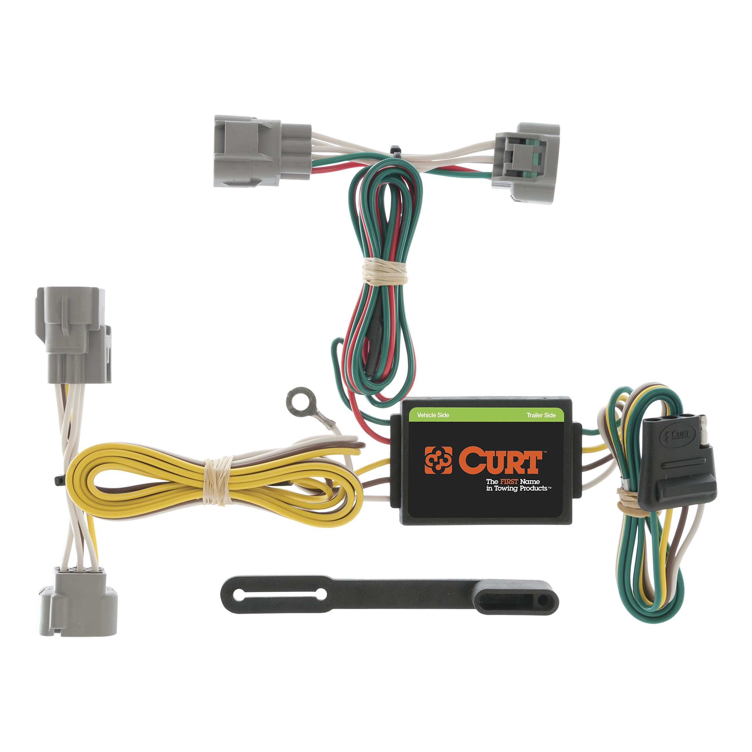 CURT 55513 Vehicle-Side Custom 4-Pin Trailer Wiring Harness for Select Toyota T-100 Pickup, Toyota Tacoma by CURT