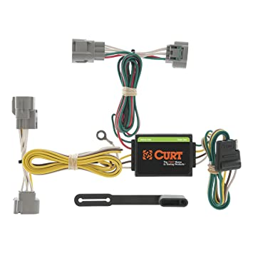 curt 55513 vehicle side custom 4 pin trailer wiring harness for select toyota t 100 pickup, toyota tacoma 2005 Toyota Tacoma Trailer Wiring Harness