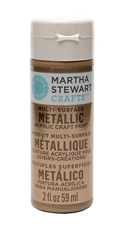 Amazon Martha Stewart Crafts Multi Surface Metallic Acrylic Craft Paint In Assorted Colors 2 Ounce 33001 Rose Gold