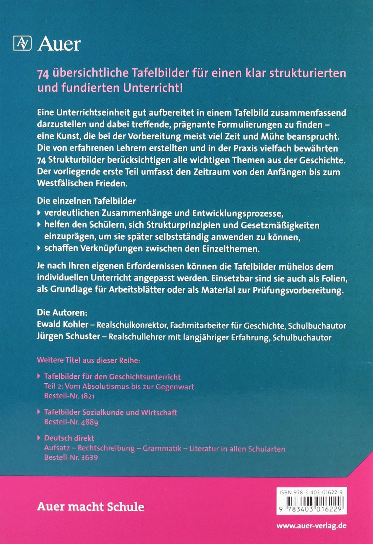 Tafelbilder für den Geschichtsunterricht, in 2 Tln., Tl.1, Von den ...