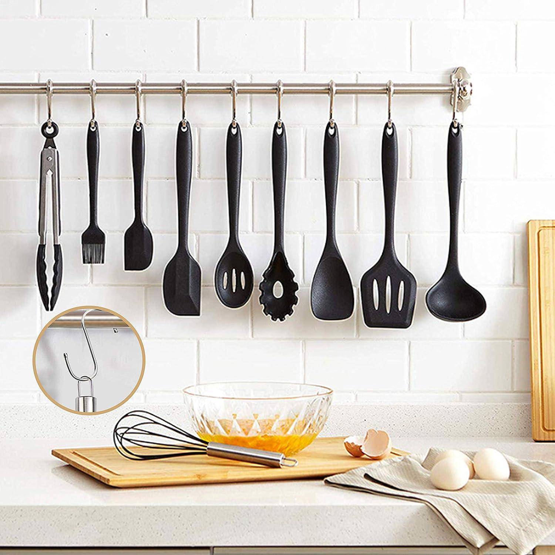 Set utensileria da cucina in silicone nero - I 7 migliori utensili da cucina su Amazon - SaluteCosmetica