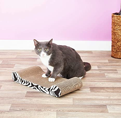 Amazon.com : Catit Style Patterned Cat Scratcher with Catnip, White Tiger Lounge, 12 Pack : Scratching Posts : Pet Supplies
