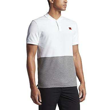 5b7b07b2c52ab Nike Dry Desert Blade Men's Slim Fit Golf Polo Shirt (Medium, White/Carbon  Heather/Max Orange): Amazon.ca: Clothing & Accessories