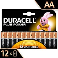 Duracell Plus Power Type AA Alkaline Batteries, Pack of 12