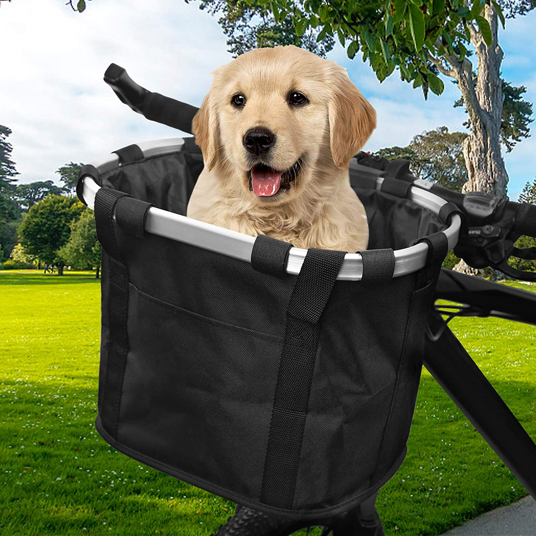 Sisenny Bike Basket Folding For Dogs