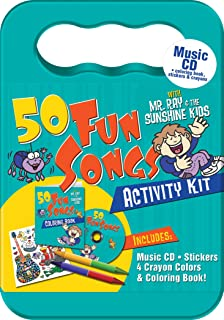 50 Fun Songs With Mr Ray Activity Kit Packaged In Carrying Case Stickers