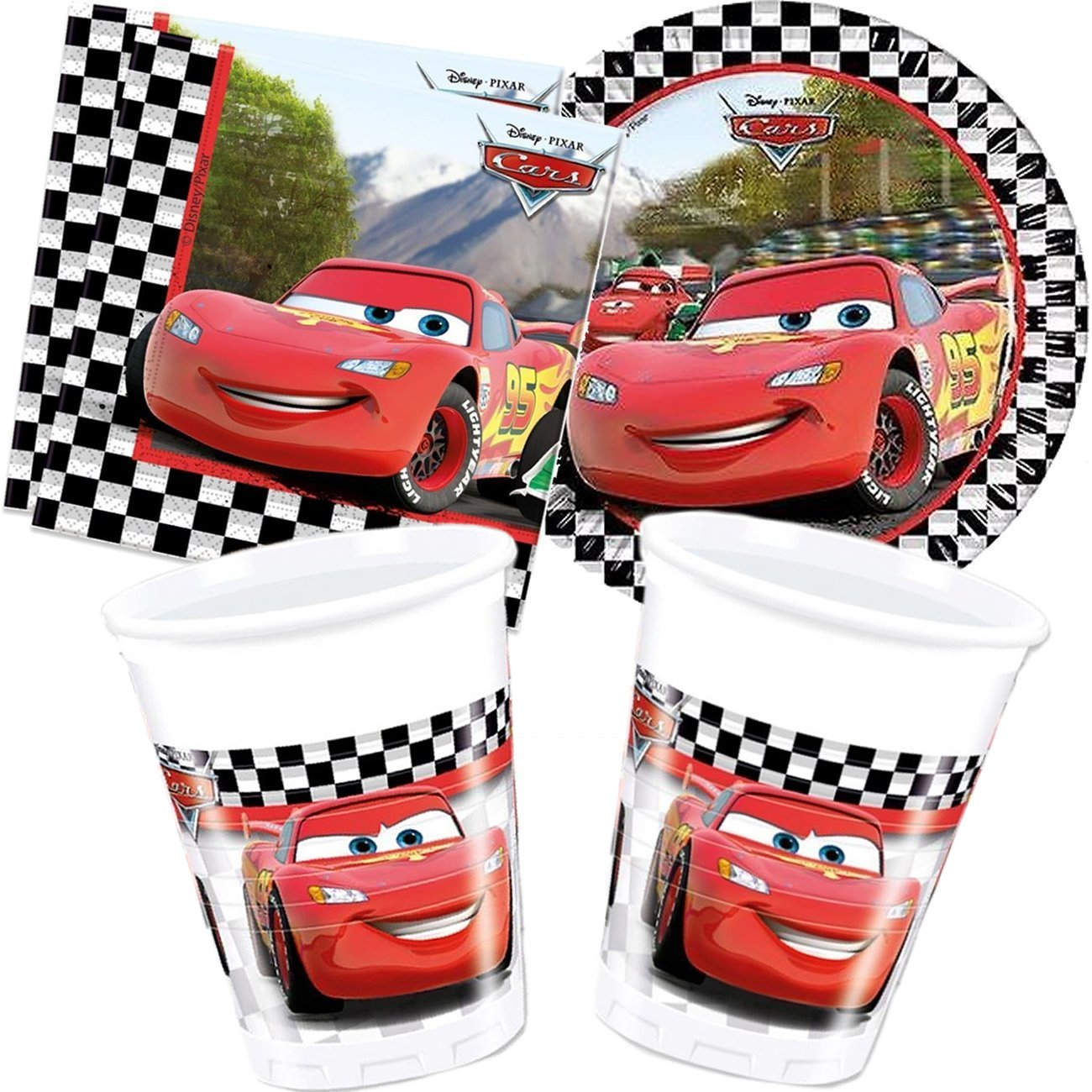 Disney - Cubertería para fiestas Cars (Cars2_set40): Amazon ...