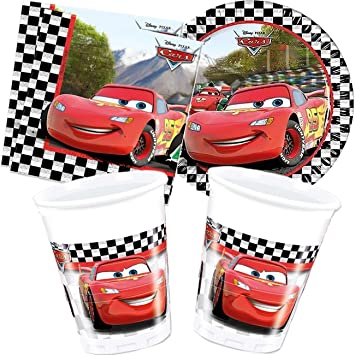 Disney - Cubertería para fiestas Cars (Cars2_set40): Amazon.es: Juguetes y juegos